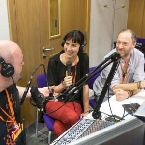 Caroline Keep & Mark Feltham talking to Dan at the first Liverpool MakeFest